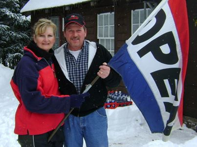 Sue & Bob Gaudette, your hosts at the Warming Hut.