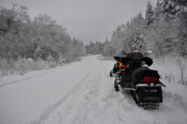 Freshly groomed trail. Photo- Raymond Lacasse